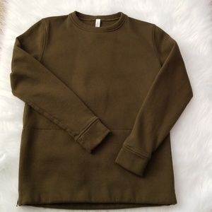 Lululemon olive side zip sweatshirt 6
